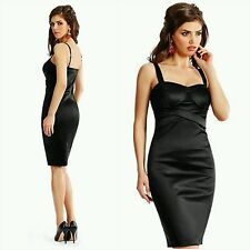 NWT GUESS by Marciano black Dina Structured Corset Dress size 4