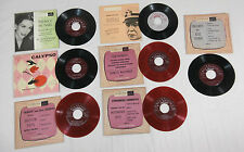 Lot of 7 Lp 45's Rpm Records Various Artists Not Tested Great For Crafts