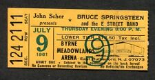 1981 Bruce Springsteen concert ticket stub The River Meadowlands Point Blank 7/9