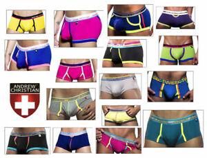 Andrew Christian Mens XLarge Boxer Underwear Male Undies Many Colours Designer