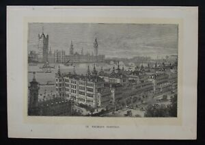 Antique Print: St Thomas's Hospital, London, The Family Physician, 1883