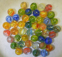 8342m Beautiful Vintage Group or Bulk Lot of 45 Hybrid Cat's Eye Marbles