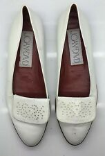 JOAN & DAVID Beautiful NEW Vintage White Leather Loafers Flats Woman's 9M Italy