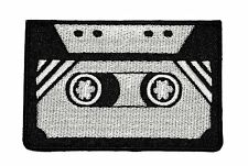 """Retro Cassette Black Tape Embroidered Iron Sew On Patch Appliques 3.1""""X2.5"""""""