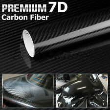 7D Black Carbon Fiber Vinyl Car Auto DIY Wrap Sheet Roll Film Sticker Decal