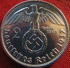 ORIGINALE 100% 2 REICHSMARK ARGENTmonnaie Allemande WW2 avec Svastika Nazi WW2