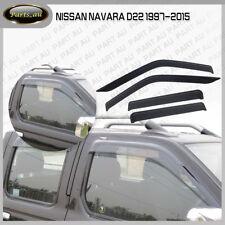 4pcs Weather Shield Weathershield Window Visors fit Nissan Navara D22 1997-2015