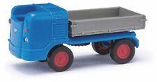 Busch Mehlhose 210 009602 Multicar M21, Three-way Tipper, Blue, H0 Model 1:87