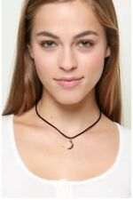 Brandy Melville silver moon charm choker necklace Nwt