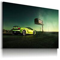 LAMBORGHINI GALLARDO GREEN Super Sports Car Wall Art Canvas Picture AU517 X