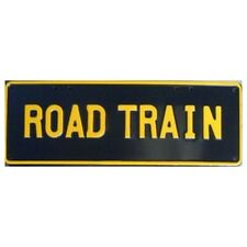 Novelty Number Plate - Road Train Yellow On Black AUS Licence Plate Sign Wall Ar