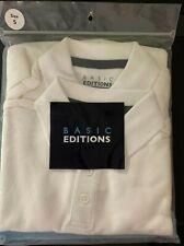 Boys White Polo Short Sleeve Size S 6/7 New School Uniform 2 Pack Basic Editions