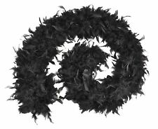 FEATHER BOA 80G BLACK BUDGET FANCY DRESS PARTY ACCESSORY