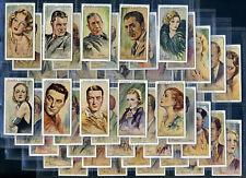 PLAYER'S Cigarette Card Set FILM STARS 1934  Clark Gable Bette Davis Greta Garbo