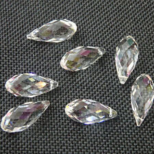 35~98mm Clear Teardrop Faceted Crystal Glass Beads Pendant Chandelier Hang Drop