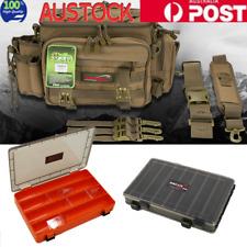 Fishing Tackle Bag Pack Shoulder Waist Waterproof Box Reel Lure Gears Storage AU