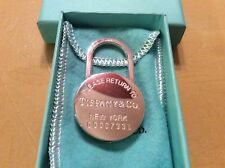 Sterling Silver Padlock Lock Keychain Ring New Tiffany & Co Return To Heavy