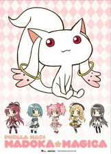 NEW Great Eastern GE-77602 Madoka Magica Kyubey & Girls Fabric Scroll Poster