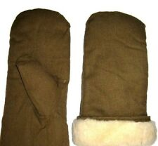 Vintage USSR Soviet Russian Army Winter warm Fur mittens sheepskin gloves