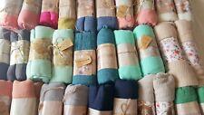 JOBLOT 30 Piezas Bufanda Chal Gasa lisa Diseño Sarong Lote al por mayor 180x110 Cm B