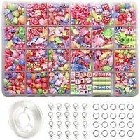 24 Arten Perlen Für Mädchen Spielzeug Kinder Armband Halskette Schmuck DIY ③