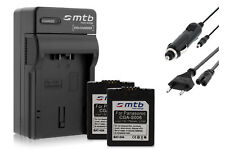 2x Baterìas CGA-S006 + Cargador para Panasonic Lumix DMC-FZ7, FZ8, FZ18, FZ28
