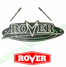 Rover Mower Badge Logo inc Rivets