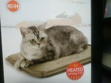 NEW!! K&H Pet Products Lectro-Soft Outdoor Heated Pet Bed Tan Small 14 X 18 Inch