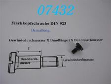 FLACHKOPFSCHRAUBE -DIN 923-  M 6 x 3 x 8