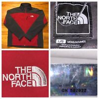 The North Face Men's Red And Gray  Full Zip Soft Shell Jacket Size Large