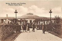 POSTCARD   SOMERSET  WESTON SUPER MARE   Winter gardens  and Pavilion