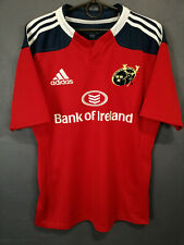 RARE MEN'S ADIDAS RUGBY UNION MUNSTER 2013/2015 HOME SHIRT JERSEY MAILLOT SIZE M