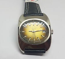 VINTAGE NOS WEST END WATCH CO., TWOTONE BROWN DIAL DATE MANUAL WIND MAN'S WATCH