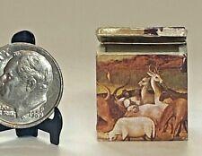 Vintage Artisan Decoupage Noah's Ark Box 1:12 Miniature Dollhouse OOAK signed