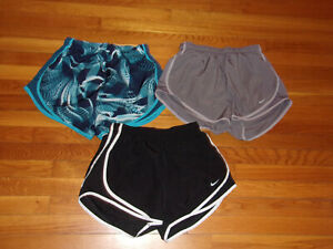 3-NIKE DRI-FIT ATHLETIC SHORTS WITH LINER WOMENS MEDIUM EXCELLENT CONDITION