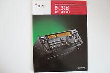 ICOM-475A/E/H (GENUINE BROCHURE ONLY)..........RADIO_TRADER_IRELAND.