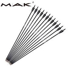 """6/12/24PCS 30"""" Archery Carbon Shaft Arrows SP500 For Recurve/Compound Bow Target"""