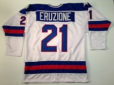 Mike Eruzione 1980 Miracle On Ice USA Hockey White UNSIGNED CUSTOM Jersey Sz L
