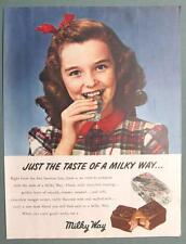 Vintage 1947 Milky Way Ad 10 by 14 JUST THE TASTE OF A MILKY WAY...