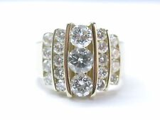 NATURAL Round Brilliant Diamond Cocktail SOLID Yellow Gold JEWELRY Ring 2.36CT