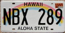 HAWAII Rainbow License Plate Aloha State - Random Letters - HI