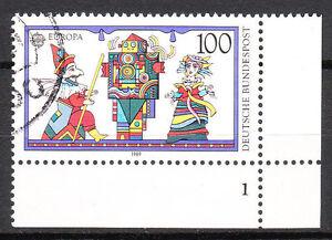 BRD 1989 Mi. Nr. 1418 gestempelt Eckrand 4 Formnummer 1 TOP!!! (8943)