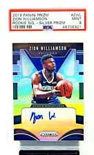2019 Prizm SILVER REFRACTOR Autograph ZION WILLIAMSON RC Card PSA 9 MINT Pop 17