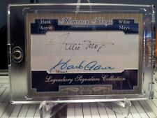 HANK AARON WILLIE MAYS  DUAL CUT AUTO PROTOTYPE DISPLAY PIECE Giants Braves