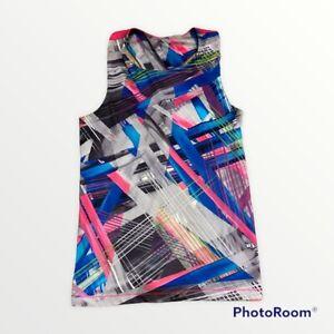 Adidas Climalite Women's Large Racerback Running Yoga Tennis Tank Top Pink Blue
