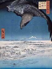 UTAGAWA HIROSHIGE JAPANESE POSTER EAGLE AT SUSAKI FUKAGAWA ART PRINT 2699OM