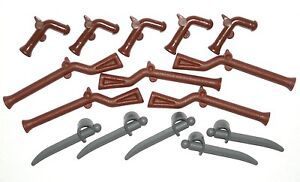 LEGO 15 Guns Swords Pirate Imperial Guard Minifigure Weapons Rifle/Musket/Pistol
