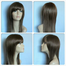 HIGH HEAT RESISTANT LONG SMOOTH HAIR LADY BROWN & BLONDE MIXED DAILY FULL WIG UK