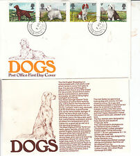 DOGS GPO FDC WITH BARKING CDS (CAT 35) UNADDRESSED WITH FULL SET OF STAMPS