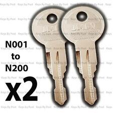 2x Thule Roof Box Key Keys (N001 - N200) Hapro, Mont Blanc, Roof or Bike Rack